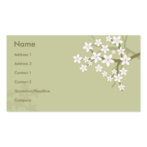 Floral Style Business Card