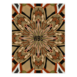 Floral Style Kaleidoscope of Earth-Tones Pattern 2 Postcard