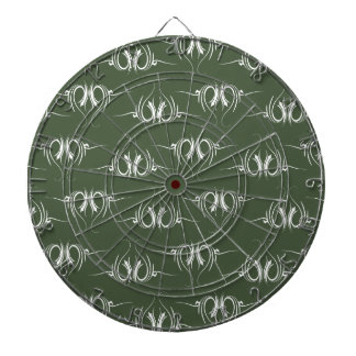Floral Style muted green Dart Boards