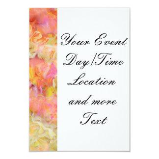 """floral suave, rosas (i) invitación 3.5"""" x 5"""""""