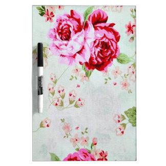 Floral subió elegante del rosa de cabaña del pizarras blancas de calidad