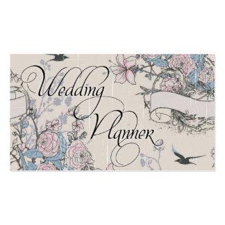 Floral subió vintage de la tarjeta de visita del p