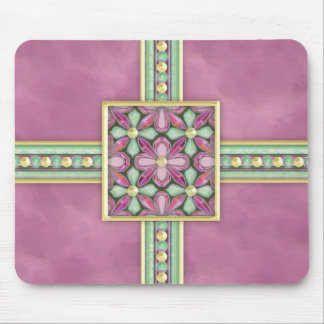 Floral - Suede & Jade Mouse Pad