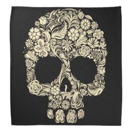 Floral Sugar Skull Bandana