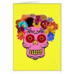 Floral Sugar Skull Card
