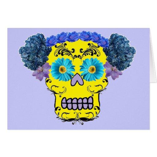 Floral Sugar Skull Cards