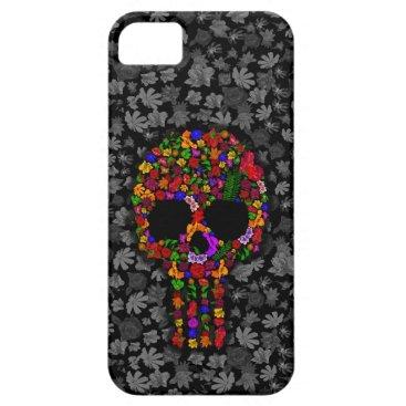 Halloween Themed Floral Sugar Skull case