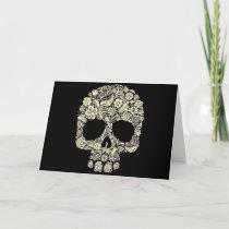 Floral Sugar Skull Greeting Card