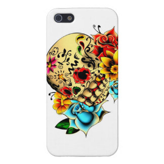 Floral Sugar Skull Cases For iPhone 5