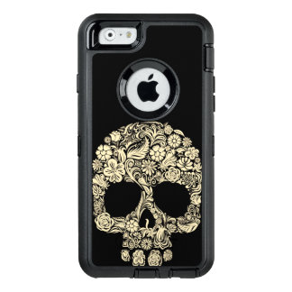 Floral Sugar Skull OtterBox Defender iPhone 6 Case