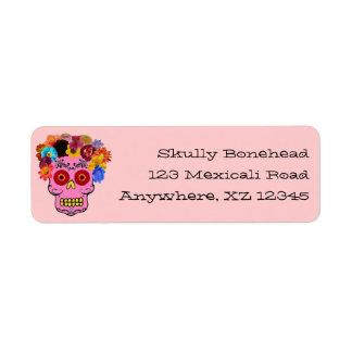 Floral Sugar Skull Return Address Label