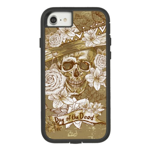 Floral Sugar Skull Tough Extreme iPhone 7 Case Phone Case