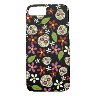 Floral Sugar Skulls iPhone 7 Case