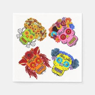 Floral Sugar Skulls Paper Napkins