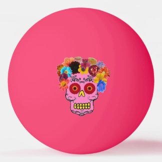 Floral Sugar Skulls Ping Pong Ball