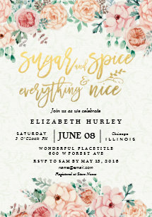 45c9793cf473 Floral Sugar   Spice   Everything Nice Baby Shower Invitation