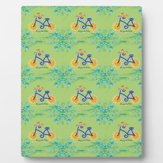 Floral Summer Bicycle Pattern Plaque