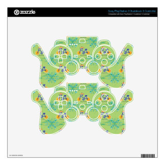 Floral Summer Bicycle Pattern PS3 Controller Decal