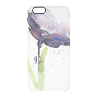 Floral summer design with hand-painted abstract clear iPhone 6/6S case