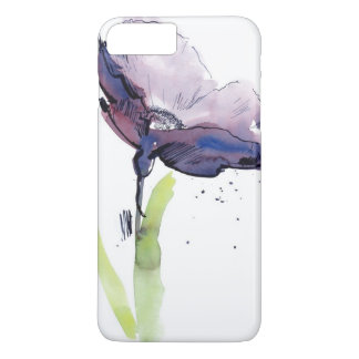 Floral summer design with hand-painted abstract iPhone 8 plus/7 plus case