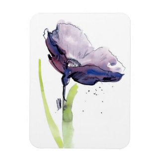 Floral summer design with hand-painted abstract magnet