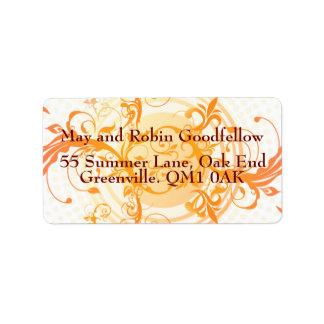 Floral Sun Handfasting Address Labels Address Label