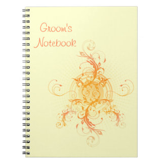Floral Sun Handfasting Groom's Notebook