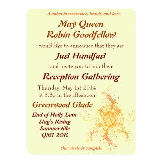 "Floral Sun Handfasting Reception Invitation 6.5"" X 8.75"" Invitation Card"