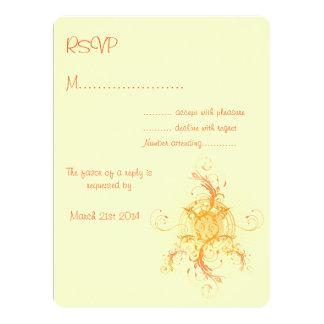 Floral Sun Handfasting RSVP Design 2 Card