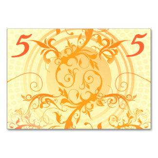 Floral Sun Handfasting Table Card