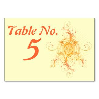 Floral Sun Handfasting Table Card Design 2