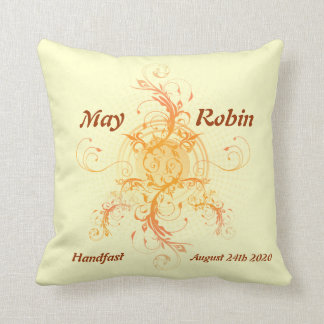 Floral Sun Pillow Handfasting Gift for Pagans