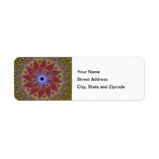Floral Sundial Return Address Labels