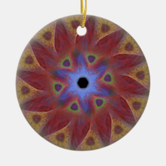 Floral Sundial Round Ornament