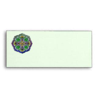 Floral Sunflower Shape Design Envelope