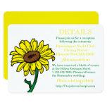 Floral Sunflower Wedding Detail Yellow Green Card