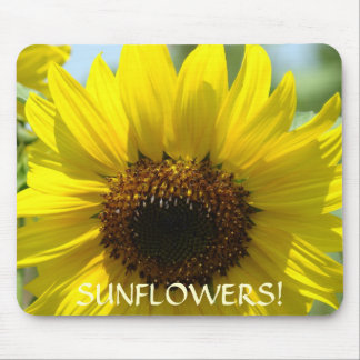 FLORAL SUNFLOWERS Mousepad gifts Sun Flowers