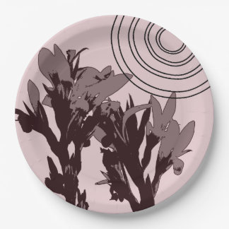 """Floral Sunny 9"""" Paper Plate"""