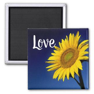 Floral Sunny Yellow Sunflower Love Flower Magnet