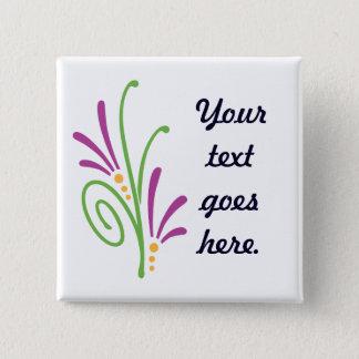 Floral Swash Pinback Button