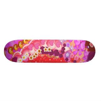 Floral SWEET Heart 2 Skateboard