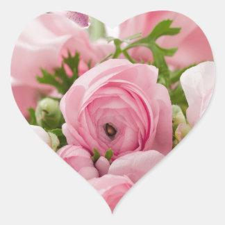Floral- Sweet Innocence Heart Sticker