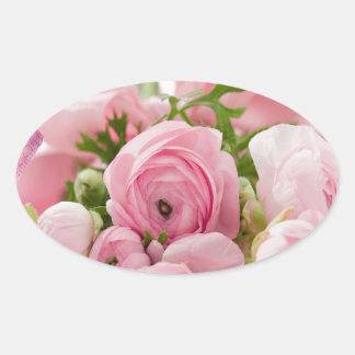 Floral- Sweet Innocence Oval Sticker