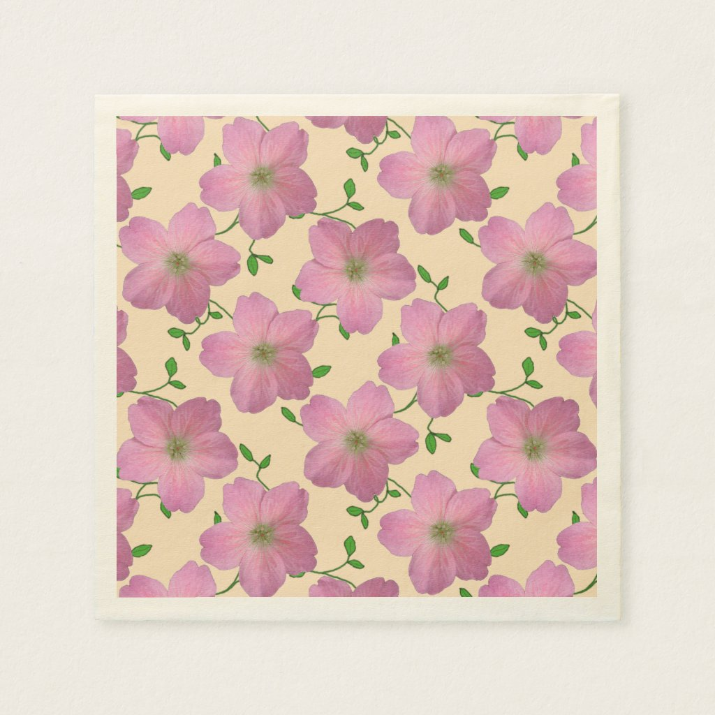 Floral Sweet Pink Garden Flowers on any Color
