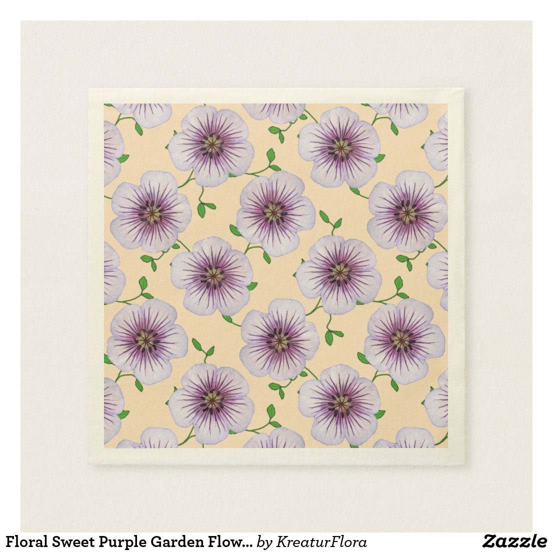 Floral Sweet Purple Garden Flowers on any Color
