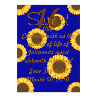 Floral Sweet Sixteen Invitation-Customize Card