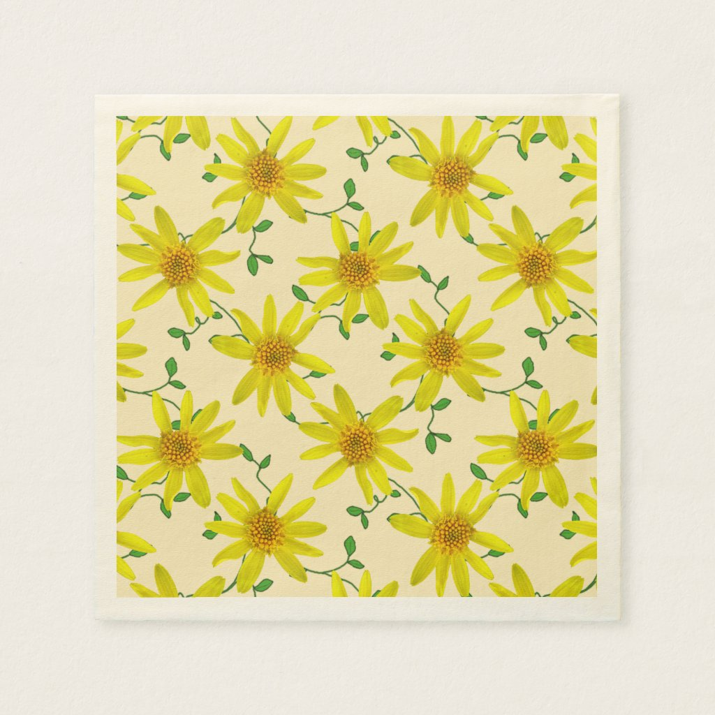 Floral Sweet Yellow Wildflowers on any Color