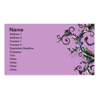 Floral Swirl Business Card