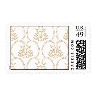 floral swirl dainty lotus damask pattern stamp