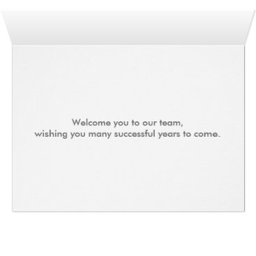 Professional Business Floral Swirl Decorative Boarder with Welcome Card